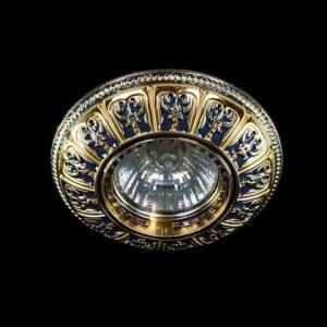 Точечный светильник Art Glass SPOT 50 BLUE GOLD