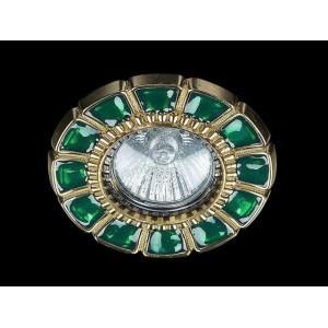 Точечный светильник Art Glass SPOT 51 GREEN GOLD